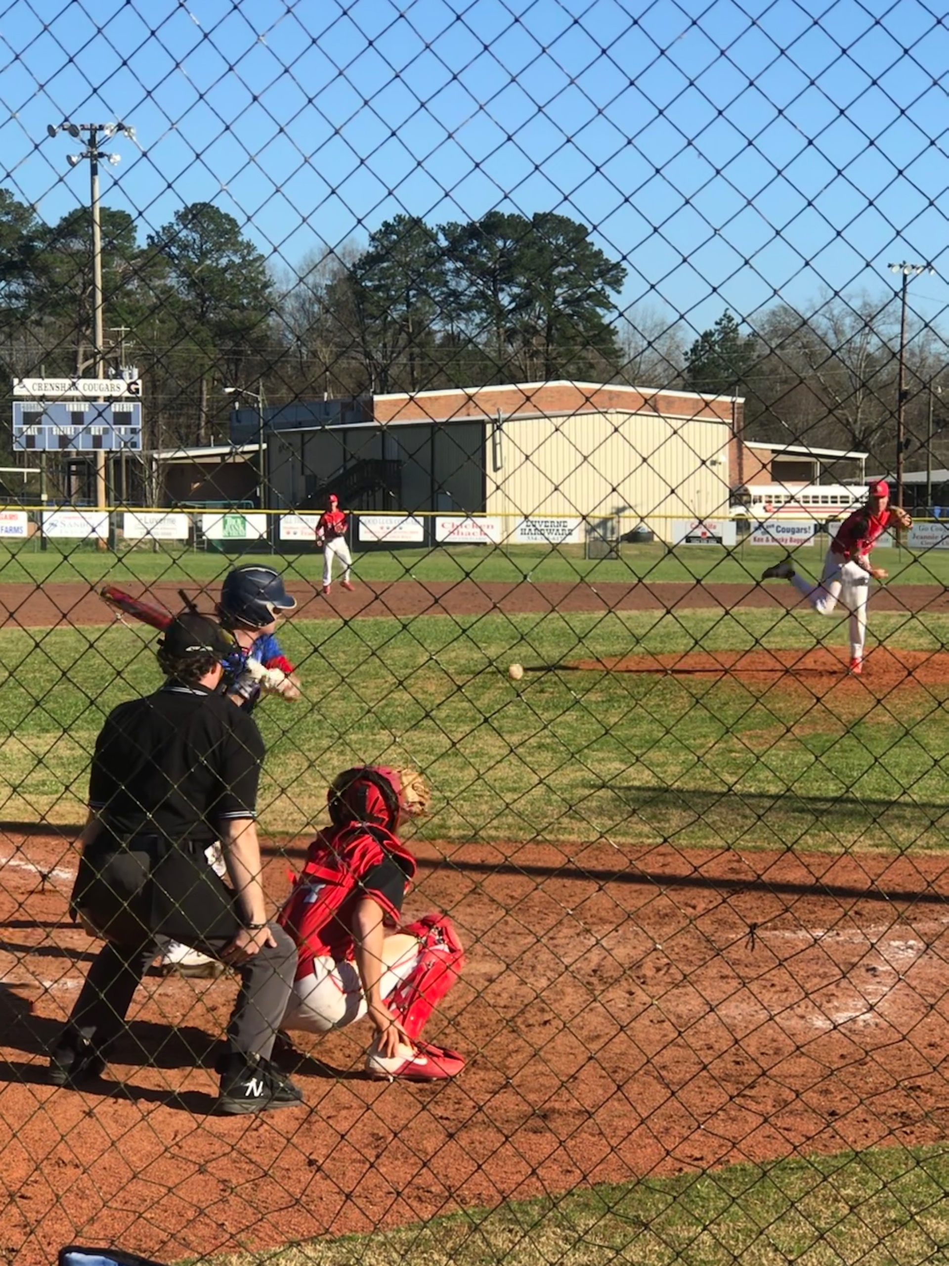 Crenshaw Varsity Baseball double header Vs Lowndes.